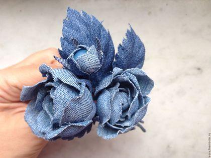 Розы из джинсовой ткани своими руками 10