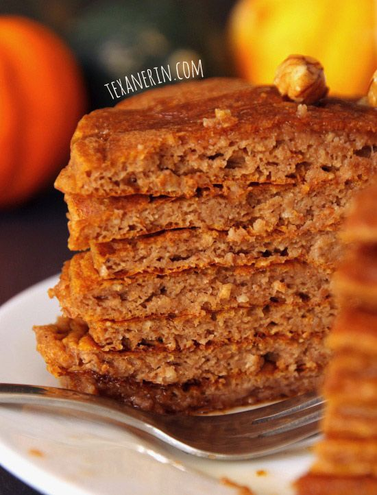 100% Whole Grain Pumpkin Protein Pancakes - you will not believe that ...