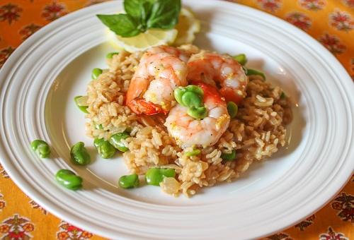 Lemon Risotto with Fava Beans and Shrimp | Shrimp, Crab and Shellfish ...