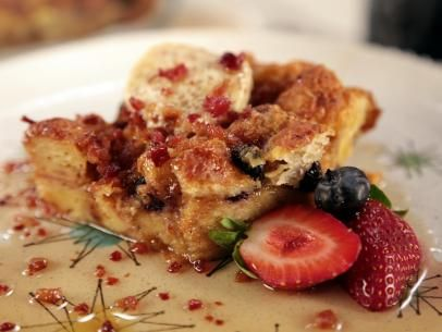 Baked Croissant French Toast Casserole with Bacon and Bourbon Infused ...