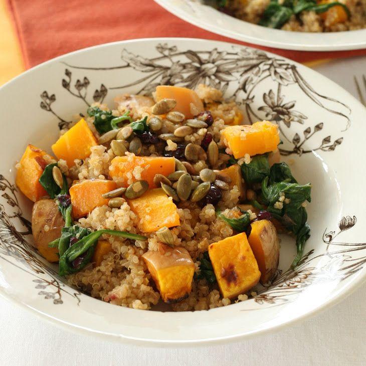 Quinoa with Butternut Squash and Pumpkin Seeds Recipe