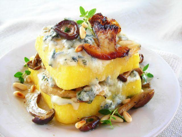 Mushroom & Gorgonzola Pressure Cooker Polenta Lasagna | Recipe