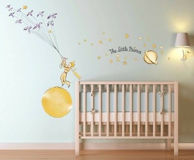Le petit prince stars wall decal sticker art kids room - Sticker petit prince ...