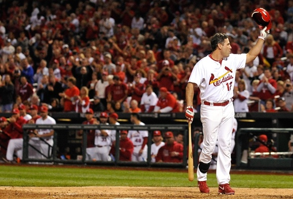 I will forever remember this moment when the Big Puma took his final at bat as a Cardinal.