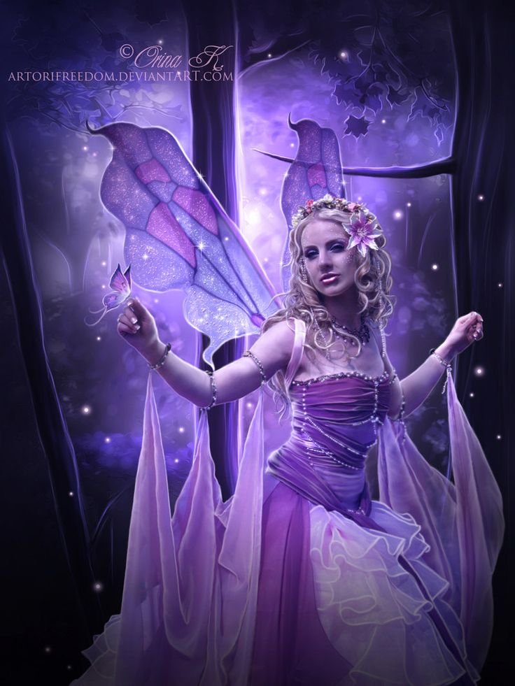 Twilight Purple Faerie~ LARGE picture | ~Mythical ...