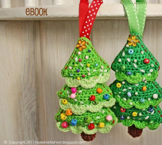 Crocheted christmas tree hooked pinterest