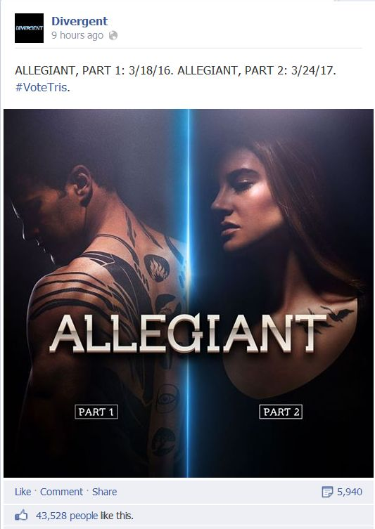 Allegiant: Part 1 release date has been finally announced to all fans ...