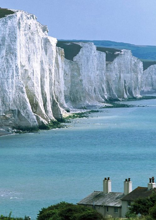 The white chalk cliffs of Dover
