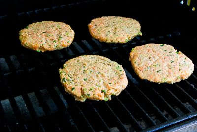 ... Kitchen: Recipe for Grilled Fresh Salmon Burgers with Caper Mayonnaise