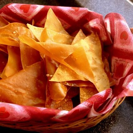 Wonton Chips | Indulge & Devour | Pinterest