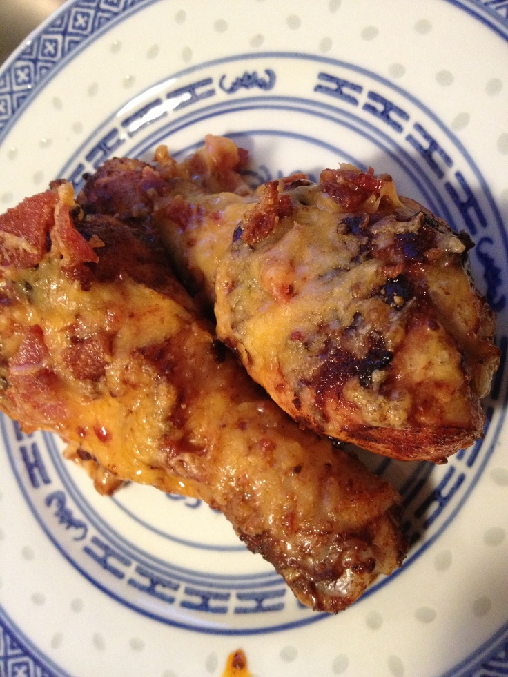 Bacon Cheddar Buffalo Wings I actually just used chicken legs 'cause I ...
