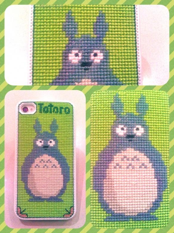 Totoro cross stitch iPhone case <3