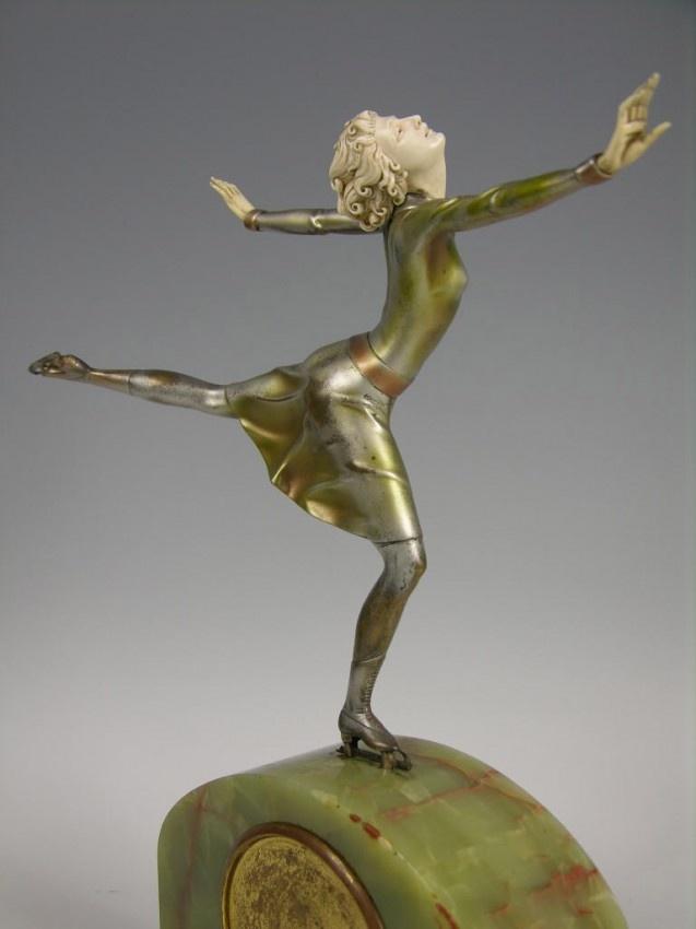 "FERDINAND PREISS (GERMAN: 1882-1943 ""."" THE SKATER ""."
