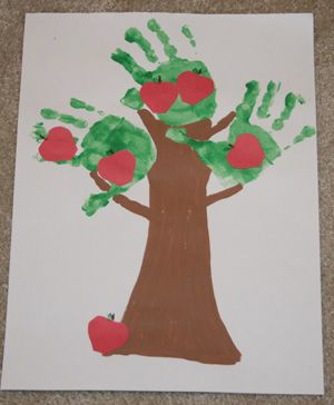 apple craft activities for toddlers kids children | glue your cut out apples onto the tree draw on leaves and stems using ...