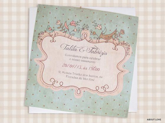 Convite de Casamento | Vintage Charmoso Temático