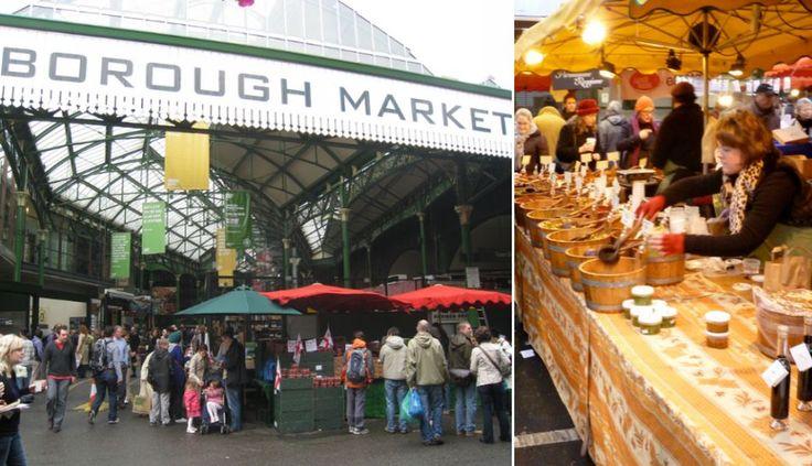 2. El Borough Market es el mercado más emblemático y antiguo de Londres. Data del siglo XI. En sus más de 100 puestos podrás hallar la vasta historia y diversidad culinaria de Inglaterra. También se ofertan platillos étnicos.