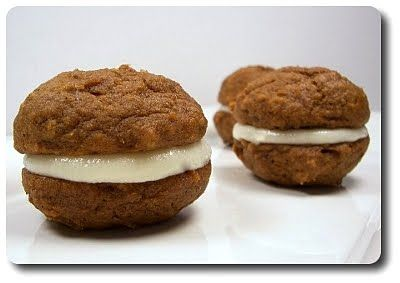 Culinary in the Desert: Mini Pumpkin Whoopie Pies with Cream Cheese ...