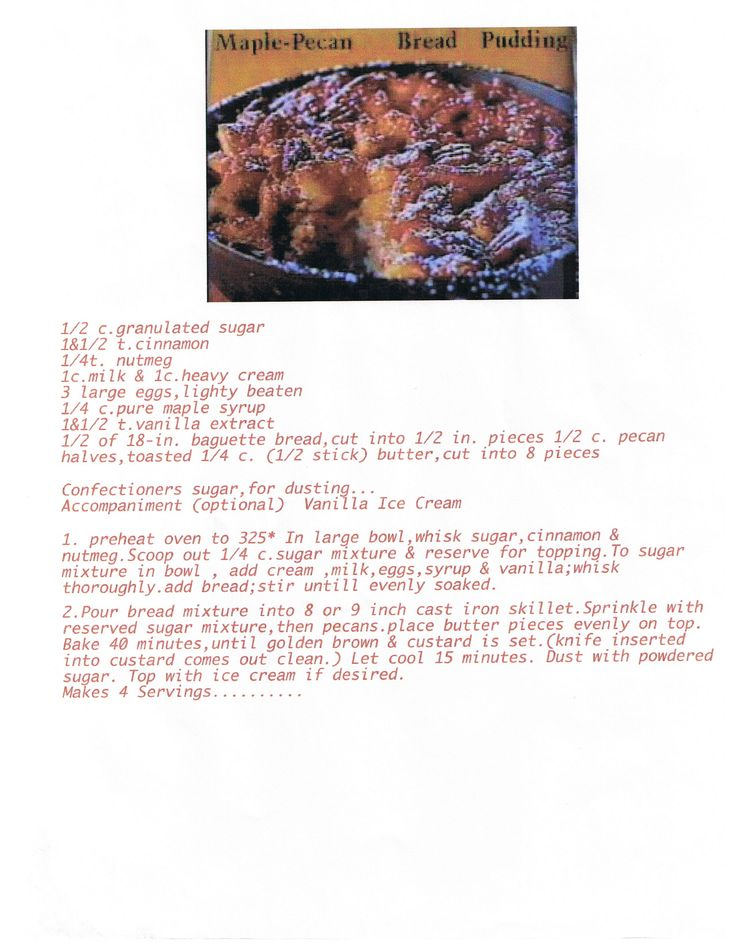 Maple Pecan Bread pudding.....   My Favorite Recipes   Pinterest