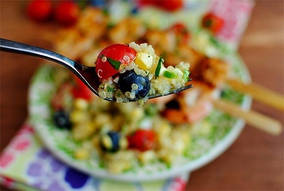 Fresh Corn & Blueberry Salad with Honey Lemon Vinaigrette - we served ...