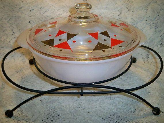 Vintage Mid Century Modern Casserole Warmer by BlackRain4 on Etsy, $29.99