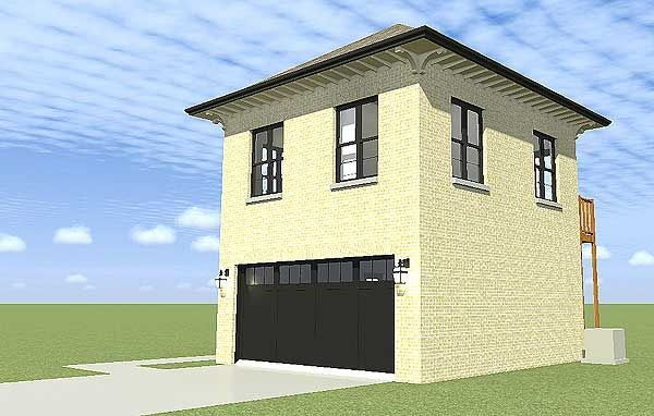 garage plan with upstairs apartment
