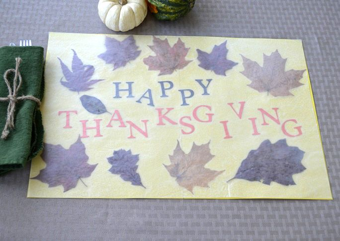 Thanksgiving Paper Placemats Craft