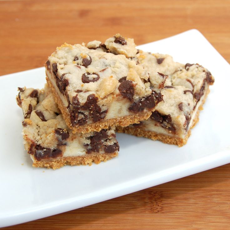 Cookie Dough Cheesecake Bars Recipe — Dishmaps