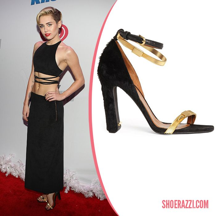 Miley Cyrus in Calvin Klein Collection Pre-Fall 2013 Ankle-Strap