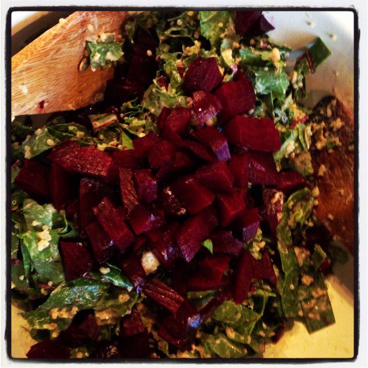 Beet Greens Chopped Salad with Lemon Tahini Dressing – Cleanse ...