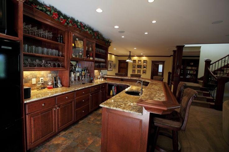 Custom Home Bars New Leland House Pinterest