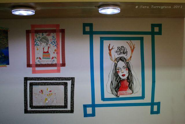 Washi Tape Decoracion Paredes ~  hecho a mano #DIY de 5 minutos Decorando la pared con Washi Tape