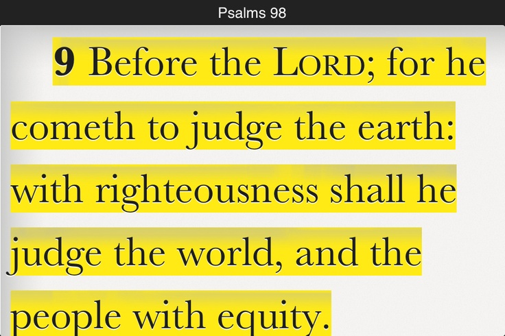 ... Lord is judge of ALL the earth! | Daily Bible reading verses | Pi
