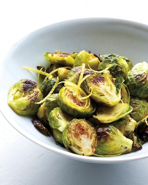 Spiced Lemony Brussels Sprouts | Food and drink~ | Pinterest