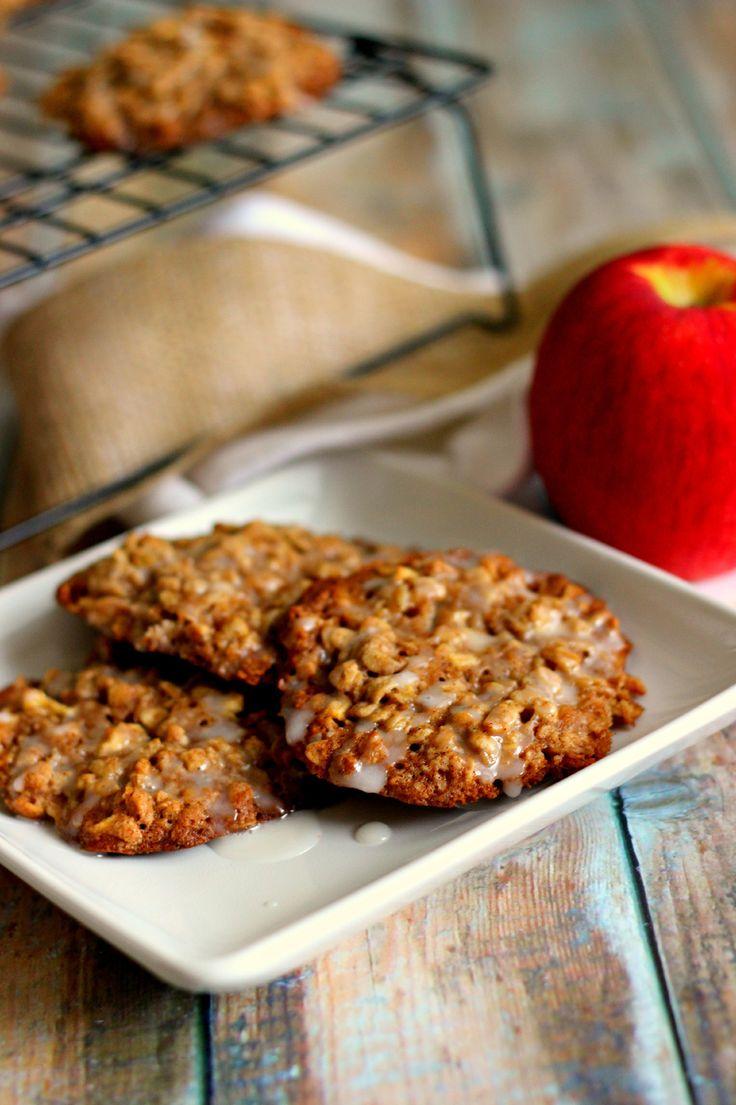 Glazed Apple Oatmeal Cookies | Recipe