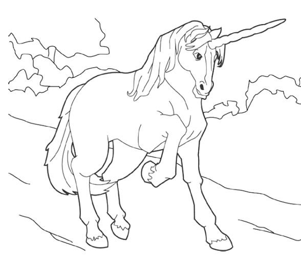 Abstract Unicorn Coloring Pages : Hard abstract coloring pages unicorn