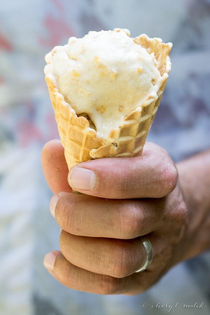 Vegan Peach Ice Cream. | Dairy Free Eats | Pinterest