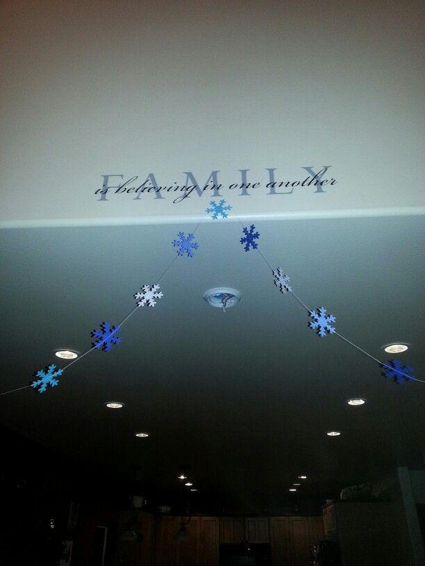 Fun snowflake garland for the season.
