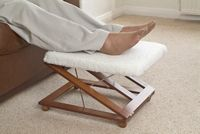 Tri Relax Footrest - Comfort Foot Stool  Total Comfort For Feet & Legs!     Versatile leg or foot rest with easy to adjust height and angle to comfortably relax tired legs. Offering a choice of three different positions. The highest elevates legs to help stimulate circulation and ease tired legs.     £19.99