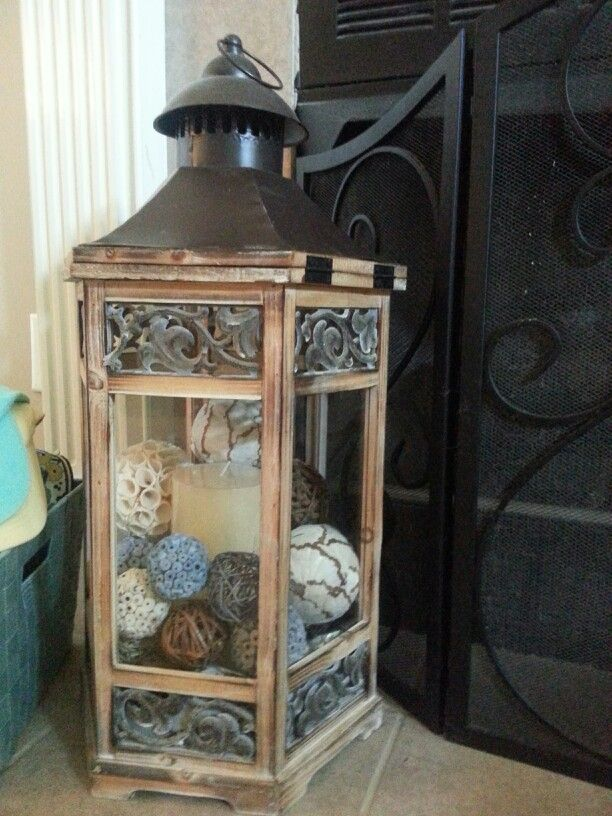 lantern decor w candle decor inside use electric candles