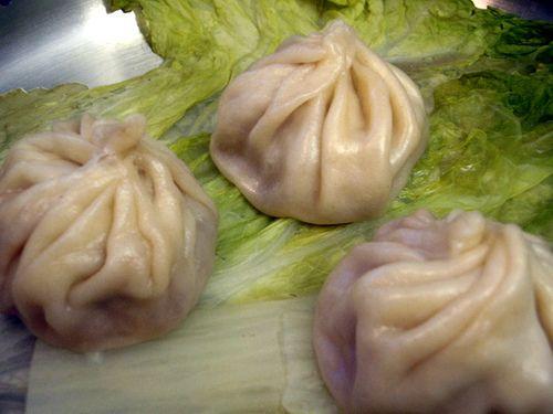 Xiao Long Bao (Steamed Soup Dumplings) Soup is inside the dumpling. I ...