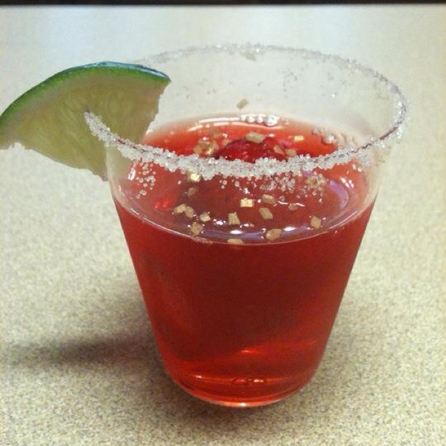 Strawberry Margarita Shot! This classy little jello shot is perfect ...
