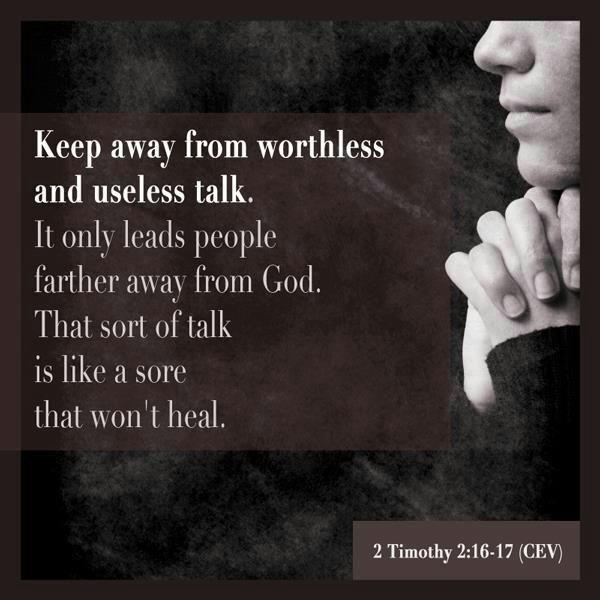 Timothy 2 16 17 he lives pinterest