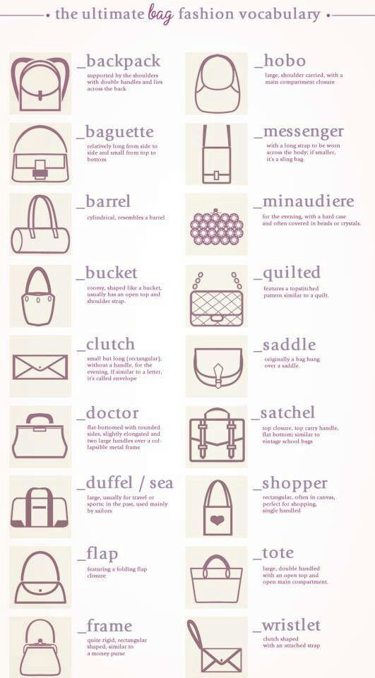 Purse Style Names Clothes And My Style Pinterest