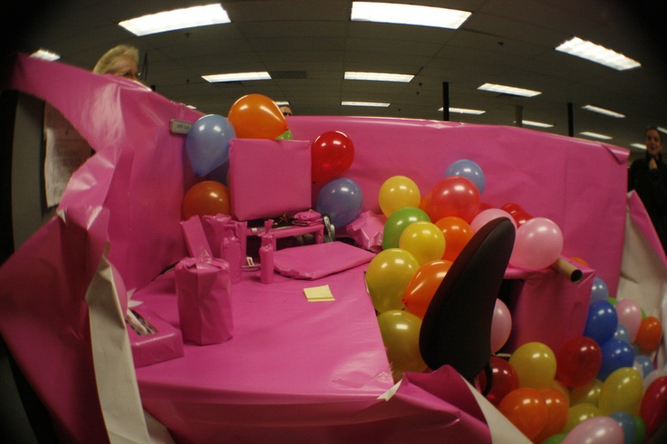Happy Birthday Office Pranks Happy Birthday Cubicle Prank