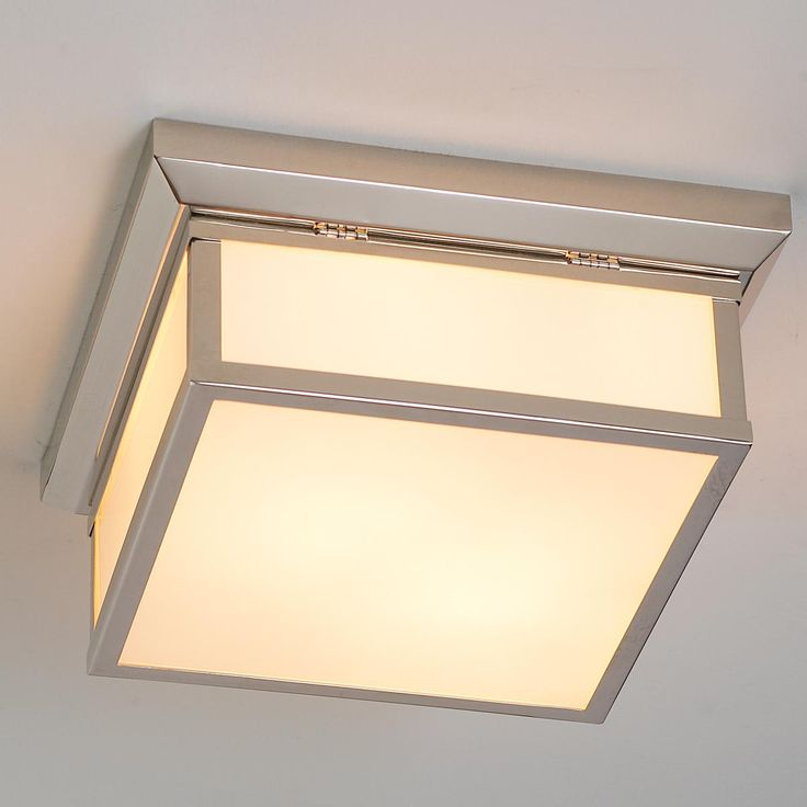 metropolitan square flushmount ceiliing light 159