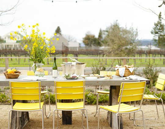 lemon yellow picnic