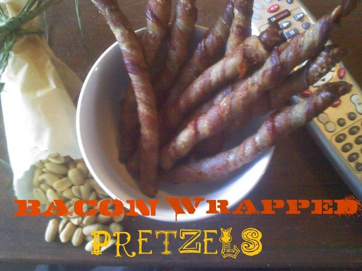 Friday Football Snack Prep ~Bacon Wrapped Pretzels!