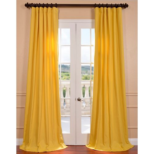 ... Yellow Cotton 84 Inch Twill Curtain Panel Half Price Drapes D