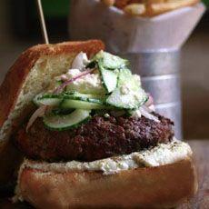 Greek Lamb Burger | Yummy Food | Pinterest