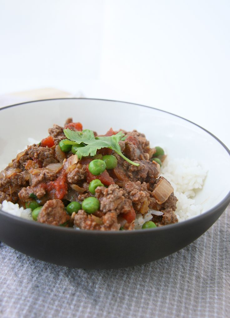 kheema ground beef with peas - pretty good, would probably leave out ...